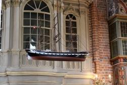 Hanging ship in church